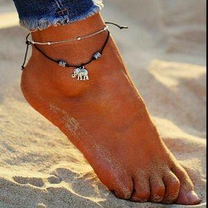 Jewelry - ❤️gorgeous twolayer silver elephant ankle bracelet